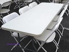 2- 6ft Tables, 16 White Chair Add-On Pkg