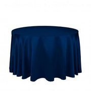 132 Inch Satin Navy Blue