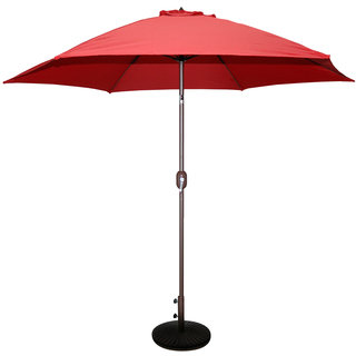 9ft Red Umbrella With Base