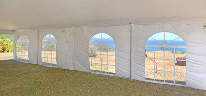 20 x 100 Deluxe Frame Tent w/Walls