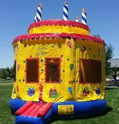15x15 Birthday Cake Bounce HouseSize 15 L x 15 W x 16 H