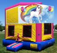 Unicorn Bounce HouseSize 13 L x 13 W x 14 H