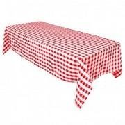 8 Ft. Red and White Checkered Linen