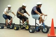 Adult Tricycle Relay Race