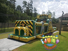 Obstacle Course with pool