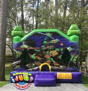 15 x 15 Large Teenage Mutant Ninja Turtle MoonwalkRecommended for ages 9 and under Space Needed: 18'L x 18'W x 18'H