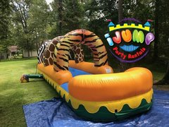 Wild Slip N' Slide with poolRecommended for ages 6+ Space Needed: 32'L X 12'W X 15'H