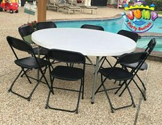 1 Round Table and 8 Chair SetGreat for 6 and up