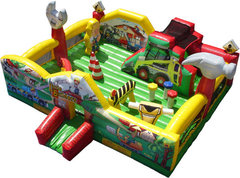 Little Builders Toddler Playland Obstacle Course (Dry)Recommended for ages 5 and under  Space Needed: 21.5'L x 22.2'W x 11.2'H