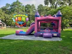 Princess Combo bounce house with PoolRecommended for ages 6 and under Space Needed: 27'L x 18'W x 17'H