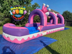 Princess Slip N' Slide with poolRecommended for ages 6+ Space Needed: 32'L X 12'W X 15'H