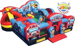 Rescue Squad Playland Bounce House Obstacle CourseRecommended for ages 5 and under Space Needed: 23'L x 23'W x 12'H ​