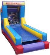 Inflatable Skee Ball GameRecommended for ages 5 and up Space Needed:14'(L) x  9'(W) x 10'(H)
