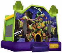 10 x 10 Small Teenage Mutant Ninja Turtle MoonwalkRecommended for ages 6 and under Space Needed: 13'L x 14'W x 13'H