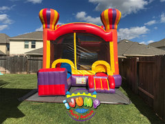 Adventure Combo bounce house with slideRecommended for ages 6+ Space Needed: 21'L x 17'W x 16'H