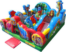 Animal Kingdom Jr. Playland Bounce House Obstacle CourseRecommended for ages 5 and under  Space Needed: 21'L x 21'W x 10'H