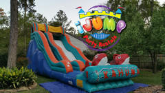 19' Ft. Big Kahuna Slide (Dry)Recommended for ages 6+ Space Needed: 40'L X 16'W X 20'H