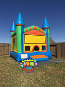 13 x 14 Colorful MoonwalkRecommended for ages 9 and under Space Needed: 19'L x 18'W x 15'H