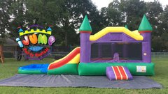 Jr. Jumbo Combo bounce house with PoolRecommended for ages 6 and under Space Needed: 26'L x16'W x15'H