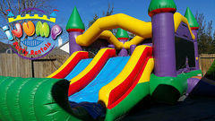 Jr. Jumbo Combo bounce house with slide (Dry)Recommended for ages 6 and under Space Needed: 26'L x16'W x 15'H