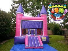 13 x 14 Purple Moonwalk with mini slideRecommended for ages 9 and under Space Needed: 18'L x 19'W x 15'H