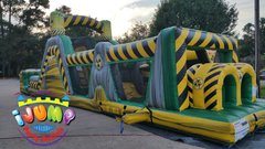 47 Ft. Toxic Blast Obstacle Course with pool