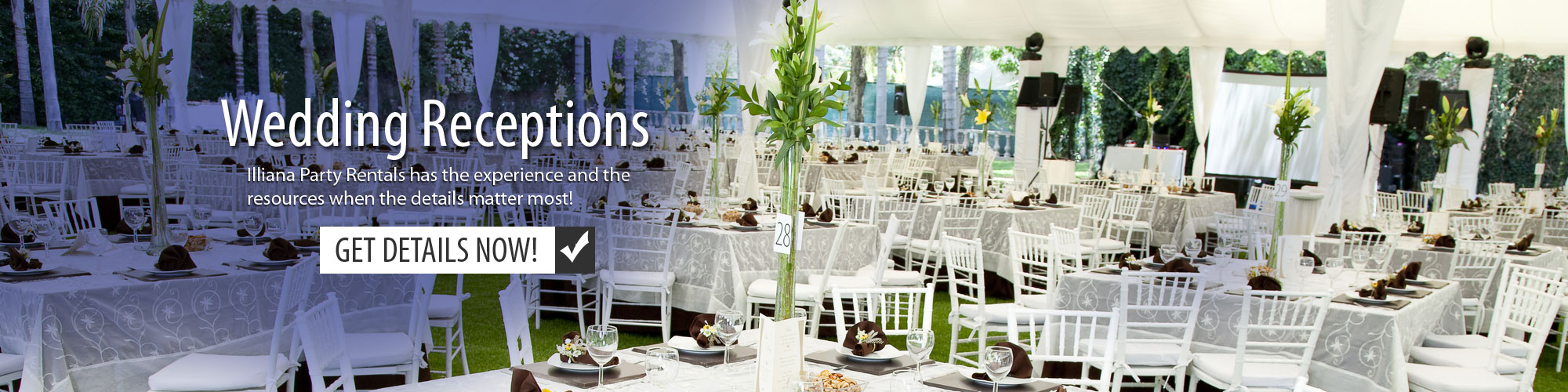 Wedding Reception Equipment Rentals