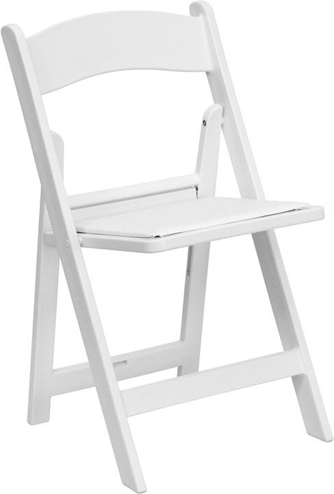 White wedding chair in Griffith Indiana