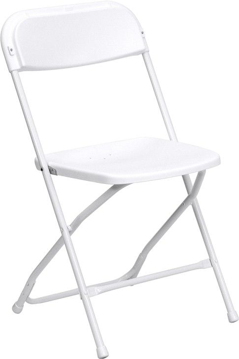 White folding chairs in Griffith Indiana