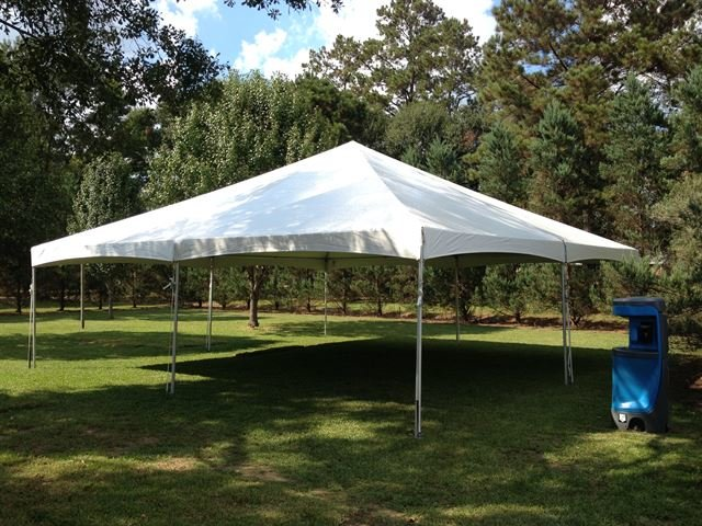 30ft X 30ft White Traditional Frame Tent