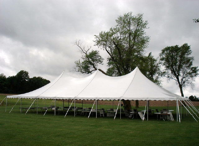 40ft X 80ft White Hi Peak Pole Tent