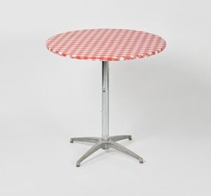 Red Gingham Kwik Covers - 30in round