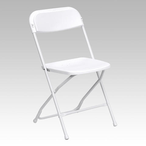White folding chair (indoor only)