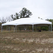 30ft X 45ft tent, 18 - 8ft banquet tables, 144 chairs