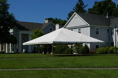 30ft X 30ft tent, 9 - 5ft round tables, 72 chairs