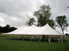 40ft X 60ft White Hi-Peak Pole Tent