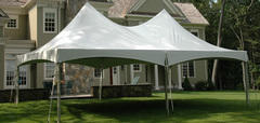 20ft X 40ft White One-Piece Hi Peak Tent