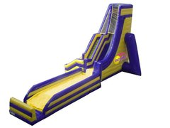<font color=blue>Incredible Fly Slide<br><font color=red> Water Slide with Launch Landing Pad <font color=black>