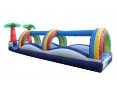 <font color=blue>Rainbow Slip n Slide<br><font color=red> Single Lane Slip n Slide <font color=black>