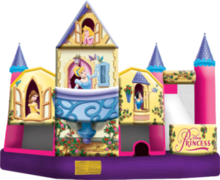 <font color=blue>Disney Princess 5in1<br><font color=red> Bounce, Climb, Slide, Obstacles, and Basketball <font color=black>
