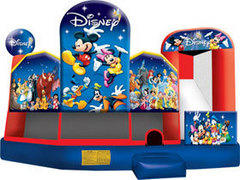 <font color=blue>World of Disney 5in1 <br><font color=red> Bounce, Climb, Slide, Obstacles, and Basketball <font color=black>