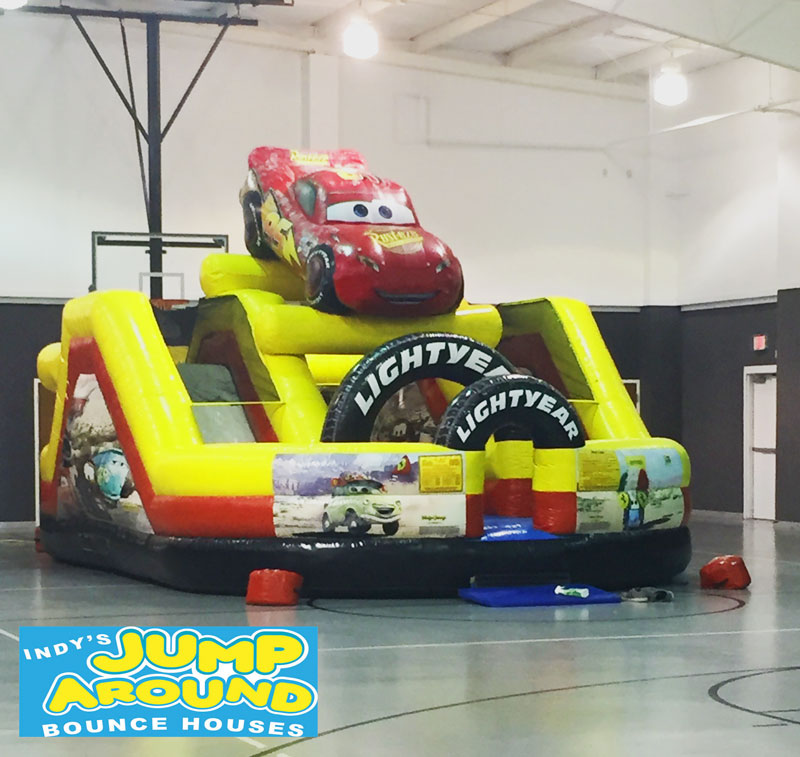 Cars Obstacle Course Dual Slide