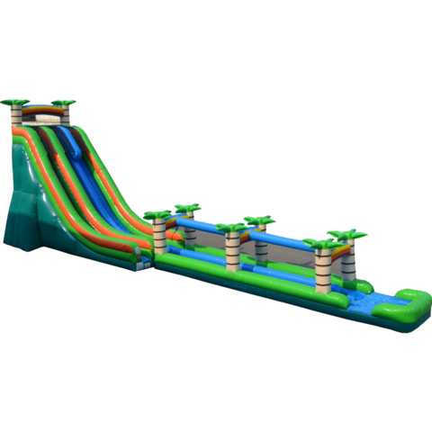 27' Dual Lane Tropical Water Slide