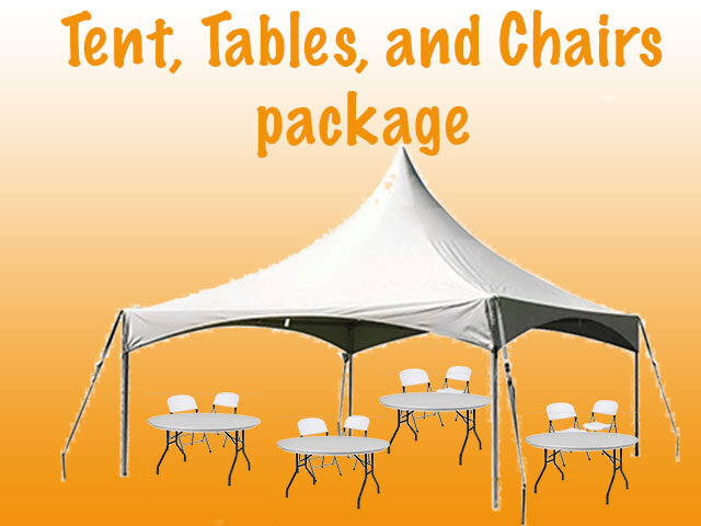20 x 20 Tent Tables and Chairs Package