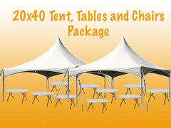 20 x 40 Tent Tables and Chairs Package