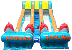 Dual Lane Kahuna Water Slide