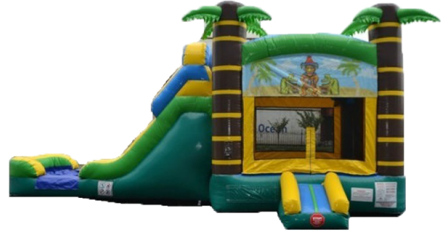 Tiki Waterslide Bounce Combo