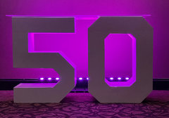 Block 50 Lettering LED (At Our Facility)