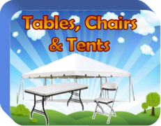 Table, Chairs and Tents