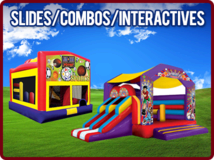 Bounce House Water Slide Combo Units